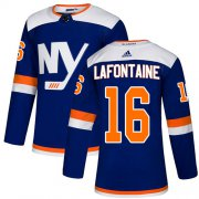 Wholesale Cheap Adidas Islanders #16 Pat LaFontaine Blue Authentic Alternate Stitched NHL Jersey