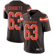 Wholesale Cheap Nike Browns #63 Austin Corbett Brown Team Color Men's Stitched NFL Vapor Untouchable Limited Jersey