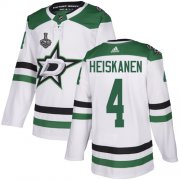 Wholesale Cheap Adidas Stars #4 Miro Heiskanen White Road Authentic 2020 Stanley Cup Final Stitched NHL Jersey