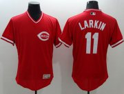 Wholesale Cheap Reds #11 Barry Larkin Red Flexbase Authentic Collection Cooperstown Stitched MLB Jersey