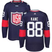 Wholesale Cheap Team USA #88 Patrick Kane Navy Blue 2016 World Cup Stitched Youth NHL Jersey