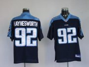 Wholesale Cheap Titans #92 Albert Haynesworth Dark Blue Stitched Jersey