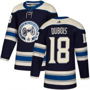 Wholesale Cheap Adidas Blue Jackets #18 Pierre-Luc Dubois Navy Alternate Authentic Stitched Youth NHL Jersey