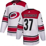 Wholesale Cheap Adidas Hurricanes #37 Andrei Svechnikov White Road Authentic Stitched Youth NHL Jersey
