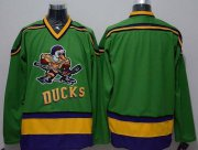 Wholesale Cheap Ducks Blank Green CCM Throwback Stitched NHL Jersey