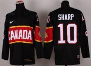 Wholesale Cheap Olympic 2014 CA. #10 Patrick Sharp Black Stitched NHL Jersey