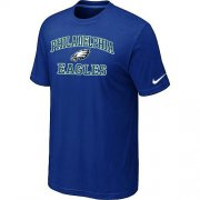 Wholesale Cheap Nike NFL Philadelphia Eagles Heart & Soul NFL T-Shirt Blue