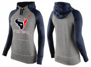 Wholesale Cheap Women's Nike Houston Texans Performance Hoodie Grey & Dark Blue