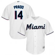 Wholesale Cheap Marlins #14 Martin Prado White Cool Base Stitched Youth MLB Jersey
