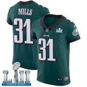Wholesale Cheap Nike Eagles #31 Jalen Mills Midnight Green Team Color Super Bowl LII Men's Stitched NFL Vapor Untouchable Elite Jersey