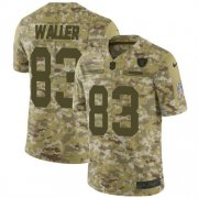 Wholesale Cheap Nike Raiders #83 Darren Waller Camo Men's Stitched NFL Limited 2018 Salute To Service Jersey
