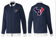 Wholesale Cheap NFL Houston Texans Team Logo Jacket Dark Blue_1