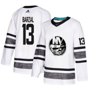 Wholesale Cheap Adidas Islanders #13 Mathew Barzal White Authentic 2019 All-Star Stitched Youth NHL Jersey