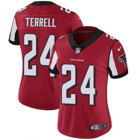 Wholesale Cheap Nike Falcons #24 A.J. Terrell Red Team Color Women\'s Stitched NFL Vapor Untouchable Limited Jersey