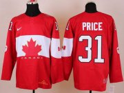 Wholesale Cheap Olympic 2014 CA. #31 Carey Price Red Stitched NHL Jersey