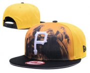 Wholesale Cheap MLB Pittsburgh Pirates Snapback Ajustable Cap Hat 7