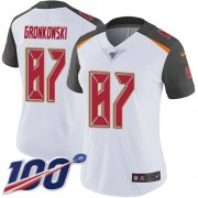 Wholesale Cheap Nike Buccaneers #87 Rob Gronkowski White Women's Stitched NFL 100th Season Vapor Untouchable Limited Jersey
