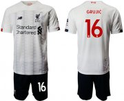 Wholesale Cheap Liverpool #16 Grujic Away Soccer Club Jersey