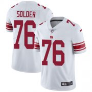 Wholesale Cheap Nike Giants #76 Nate Solder White Men's Stitched NFL Vapor Untouchable Limited Jersey