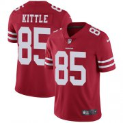 Wholesale Cheap Nike 49ers #85 George Kittle Red Team Color Youth Stitched NFL Vapor Untouchable Limited Jersey