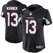 Wholesale Cheap Nike Cardinals #13 Kurt Warner Black Alternate Women's Stitched NFL Vapor Untouchable Limited Jersey