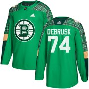Wholesale Cheap Adidas Bruins #74 Jake DeBrusk adidas Green St. Patrick's Day Authentic Practice Stitched NHL Jersey