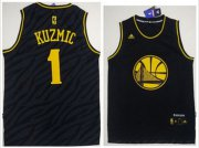Wholesale Cheap Golden State Warriors #1 Ognjen Kuzmic Black Precious Metals Fashion Stitched NBA Jersey