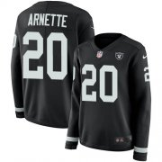 Wholesale Cheap Nike Raiders #20 Damon Arnette Black Team Color Women's Stitched NFL Limited Therma Long Sleeve Jersey