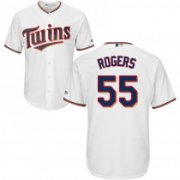 Wholesale Cheap Twins #55 Taylor Rogers White Cool Base Stitched Youth MLB Jersey