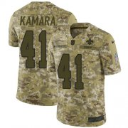 Wholesale Cheap Nike Saints #41 Alvin Kamara Camo Youth Stitched NFL Limited 2018 Salute to Service Jersey