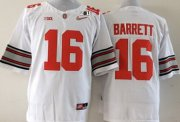 Wholesale Cheap Ohio State Buckeyes #16 J.T. Barrett 2015 Playoff Rose Bowl Special Event Diamond Quest White 2015 BCS Patch Jersey