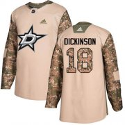 Cheap Adidas Stars #18 Jason Dickinson Camo Authentic 2017 Veterans Day Youth Stitched NHL Jersey