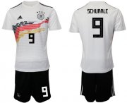 Wholesale Cheap Germany #9 Schurrle White Home Soccer Country Jersey