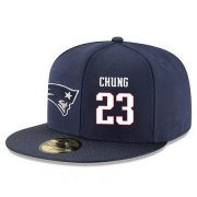 Wholesale Cheap New England Patriots #23 Patrick Chung Snapback Cap NFL Player Navy Blue with White Number Stitched Hat