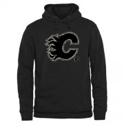 Wholesale Cheap Men's Calgary Flames Black Rink Warrior Pullover Hoodie