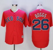 Wholesale Cheap Red Sox #26 Wade Boggs Red New Cool Base Stitched MLB Jersey