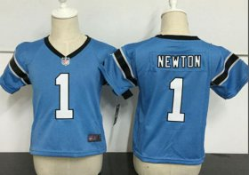 Wholesale Cheap Toddler Nike Panthers #1 Cam Newton Blue Alternate Stitched NFL Elite Jersey