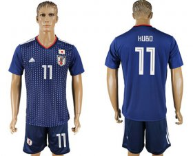 Wholesale Cheap Japan #11 Kubo Home Soccer Country Jersey