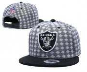 Wholesale Cheap Raiders Team Logo Gray Black Adjustable Hat TX