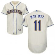 Wholesale Cheap Mariners #11 Edgar Martinez Cream Flexbase Authentic Collection Stitched MLB Jersey
