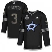 Wholesale Cheap Adidas Stars #3 John Klingberg Black Authentic Classic 2020 Stanley Cup Final Stitched NHL Jersey