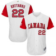 Wholesale Cheap Team Canada #22 George Kottaras White 2017 World MLB Classic Authentic Stitched MLB Jersey