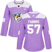 Wholesale Cheap Adidas Predators #57 Dante Fabbro Purple Authentic Fights Cancer Women's Stitched NHL Jersey