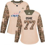 Wholesale Cheap Adidas Capitals #77 T.J. Oshie Camo Authentic 2017 Veterans Day Women's Stitched NHL Jersey