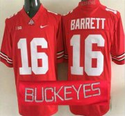 Wholesale Cheap Ohio State Buckeyes #16 J.T. Barrett Red 2015 College Football Nike Limited Jersey