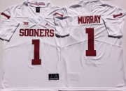 Wholesale Cheap Oklahoma Sooners 1 Kyler Murray White College Football Jersey