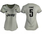 Wholesale Cheap Women's Juventus #5 Pjanic Away Soccer Club Jersey