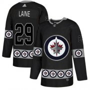 Wholesale Cheap Adidas Jets #29 Patrik Laine Black Authentic Team Logo Fashion Stitched NHL Jersey