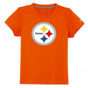 Wholesale Cheap Pittsburgh Steelers Sideline Legend Authentic Logo Youth T-Shirt Orange