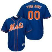 Wholesale Cheap New York Mets Majestic Cool Base Custom Jersey Royal